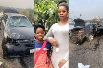 Reactions As Wizkid's First Babymama, Shola Shares Photos Of Her Wrecked After An Accident